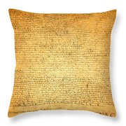 The Magna Carta 1215 Throw Pillow