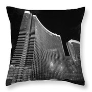 The Magnificent Aria Resort And Casino At Citycenter In Las Vegas Throw Pillow