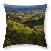 The Magnificent View From Cojitambo Throw Pillow