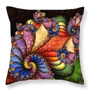 The Maharajahs New Hat-fractal Art Throw Pillow