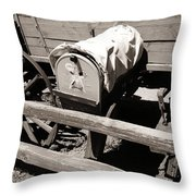The Mailbox And The Wagon Throw Pillow