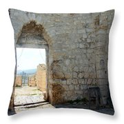 The Main Door To St.george Ruins Throw Pillow