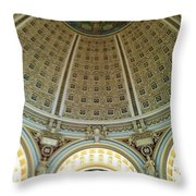 The Main Reading Room Library Of Congress Throw Pillow