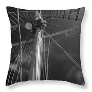 The Mainmast Of The Amazing Grace In Infrared Throw Pillow