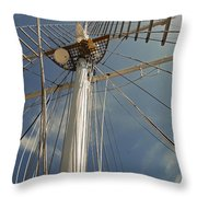 The Mainmast Of The Amazing Grace Throw Pillow