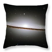 The Majestic Sombrero Galaxy Throw Pillow