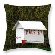The Male Box Throw Pillow