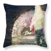 The Man And The Fire Throw Pillow