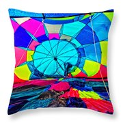 The Man Behind Inflation Throw Pillow