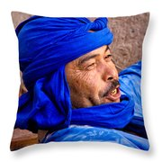 The Man In Blue Throw Pillow