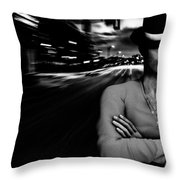 The Man In The Hat Returns Throw Pillow
