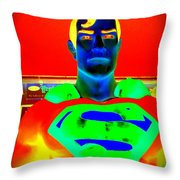 The Man Of Steel Throw Pillow