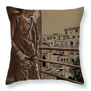 The Man Who Loved Paris Throw Pillow