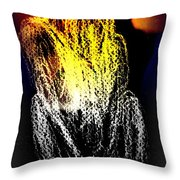 The Man Who Sees But Cannot Speak  Throw Pillow