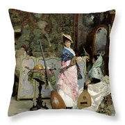 The Mandolin Shop Throw Pillow by Vincenzo Capobianchi