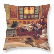 The Manicure Throw Pillow by Rudolphe Ernst