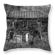 The Mansion Bw Throw Pillow