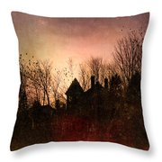 The Mansion Is Warm At The Top Of The Hill Throw Pillow by Bob Orsillo