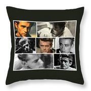 James Dean The Many Faces Throw Pillow