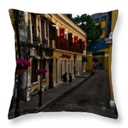 The Many Faces Of Macau Throw Pillow