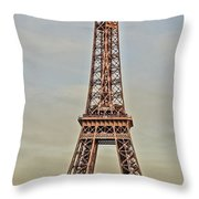 The Many Faces Of The Eiffel Tower In Paris France Throw Pillow