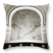 The Map Throw Pillow
