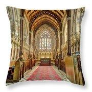 The Marble Church Interior Throw Pillow