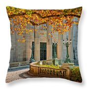 The Marble House In Autumn Throw Pillow