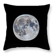 The March Mini-moon Throw Pillow