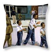 The Marching Band Throw Pillow