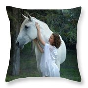 The Mare And The Maiden Throw Pillow