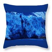 The Margerie Glacier 1 Throw Pillow