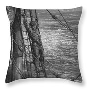 The Mariner Describes To His Listener The Wedding Guest His Feelings Of Loneliness And Desolation  Throw Pillow