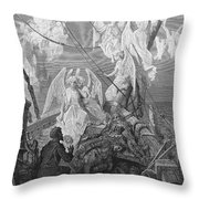 The Mariner Sees The Band Of Angelic Spirits Throw Pillow