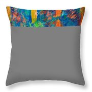 The Mark Of The Brush Throw Pillow