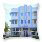 The Marlin Hotel Throw Pillow