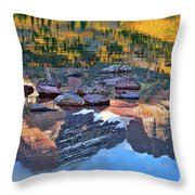The Maroon Bells Reflected Throw Pillow