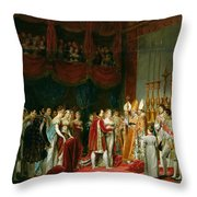 The Marriage Of Napoleon I 1769-1821 And Marie Louise 1791-1847 Archduchess Of Austria, 2nd April Throw Pillow