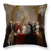 The Marriage Of The Duke And Duchess Of York Throw Pillow by Henry Singleton