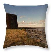 The Martello Tower Throw Pillow