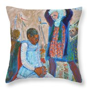 The Martydom Of St Maurice Throw Pillow