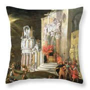 The Martyrdom Of St. Catherine, 17th Throw Pillow