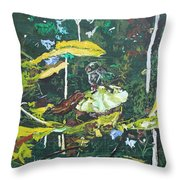 The Masquerade Dance Throw Pillow