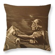 The Master Fangio At The Green Hell Throw Pillow