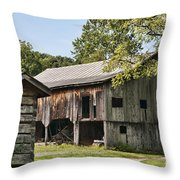 The Mathias Homestead Built In 1797 At Mathias West Virginia Throw Pillow