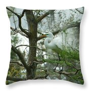 The Mating Dance Throw Pillow