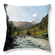 The Matter Vispa And The Matterhorn Throw Pillow