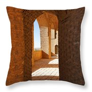 The Mausoleum Of Oljeitu At Soltaniyeh In Iran Throw Pillow