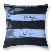 The Max Face In Cyan Throw Pillow