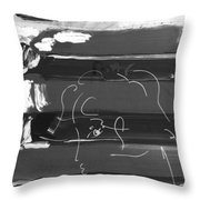 The Max Face In Negative Throw Pillow